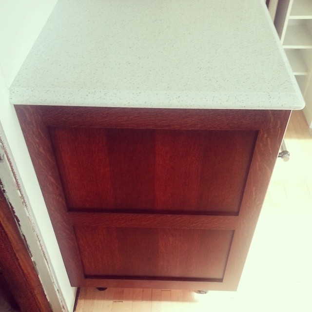 Last countertop and side panels installed. #progress #kitchen #remodel #quartzcountertops  #stpaulhaus