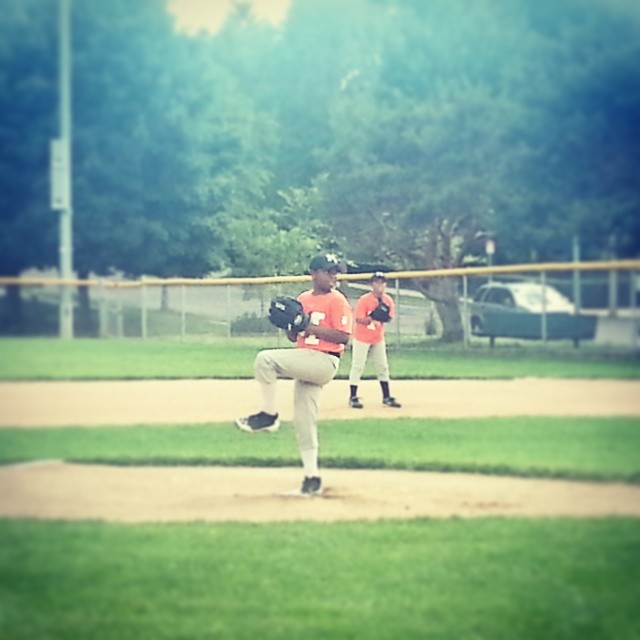Nephew's game #baseball #orangeteam #pitcher
