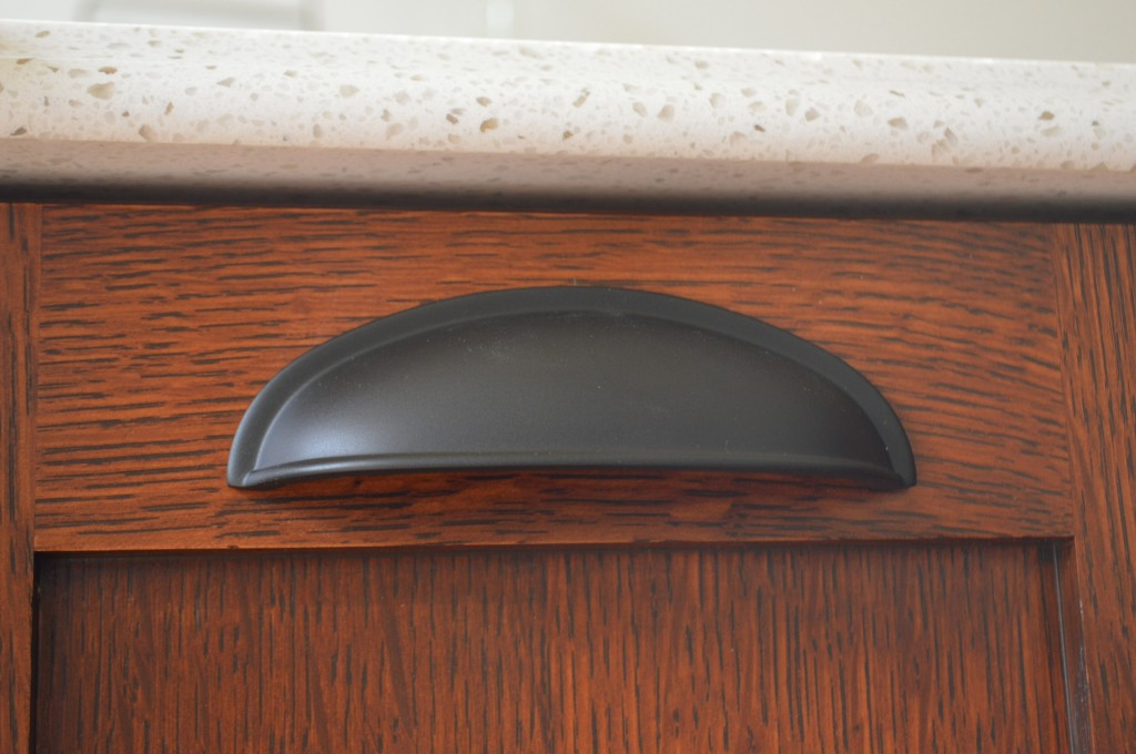 Oil rubbed bronze cup pulls
